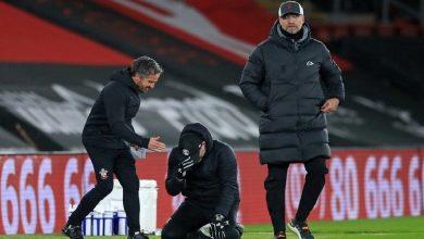 صورة تعليق داني إنغز على بكاء مدربة بعد خسارة ليفربول