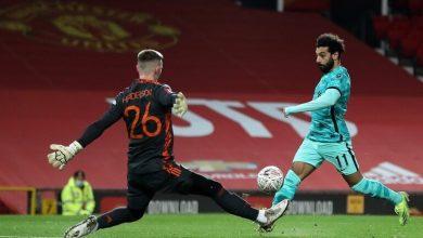 صورة محمد صلاح يحرز هدفين في مرمى مانشستر يونايتد