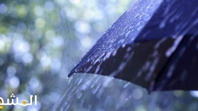 صورة يحدث عندما تصبح قطرات الماء وبلورات الثلج كبيرة فلا يستطيع الهواء حملها