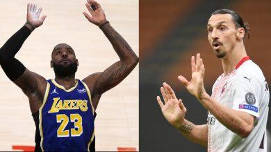 صورة كيف رد اللاعب ليبرون على زلاتان في كرة السلة