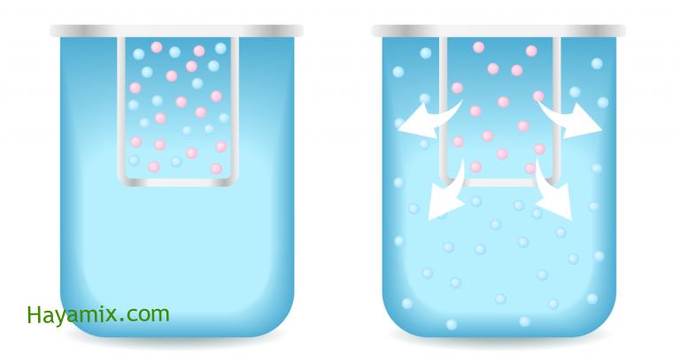 ماذا يسمى انتشار الماء عبر الغشاء البلازمي ؟