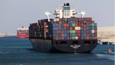 صورة قناة السويس: يتم اكتمال عبور كافة السفن المنتظرة بالمجرى الملاحي