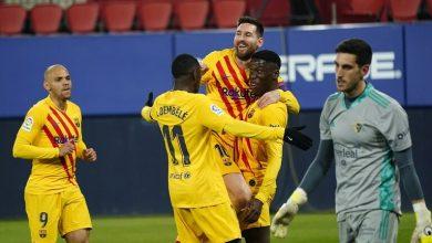 صورة برشلونة يتخطى أوساسونا بنتيجة ساحقة