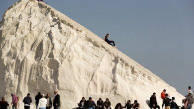 صورة فى مصر التزحلق على الملح بدل الجليد