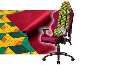 لينوفو صنعت كرسي ألعاب مزود بحامل كاتانا
