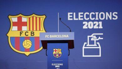 صورة مشاركة ميسي في انتخابات برشلونة