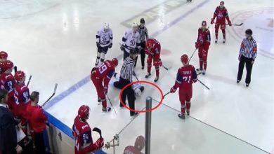 صورة وفاة لاعب بعد اصطدامة بقرص جليدي