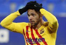 صورة نادي برشلونة : إصابة مهاجم برشلونة بالتواء في الكاحل