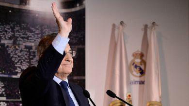 صورة اصرار من رئيس ريال مدريد على عودة دوري السوبر