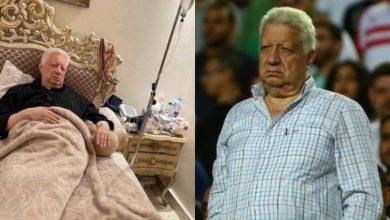 صورة الحالة الصحية لمرتضى منصور بعد سقوطه مغشيا عليه