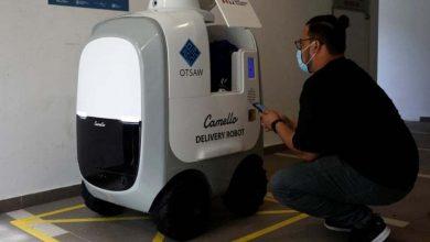 صورة روبوت Camello يوصل الطلبات للمنازل في سنغافورة