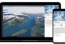 صورة Google Earth يظهر الأضرار الناجمة عن تغير المناخ