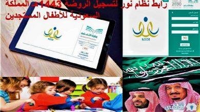 صورة رابط نظام نور لتسجيل الروضة 1443هـ المملكة السعودية للأطفال المستجدين