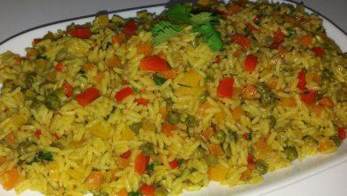 صورة طريقة عمل أشهي وألذ طبق الأرز بالخضار مفيد وصحي جداً للأطفال