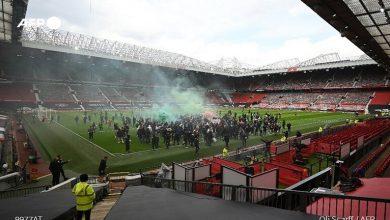 صورة قبل مواجهة ليفربول جماهير مانشستر يونايتد تقتحم الملعب