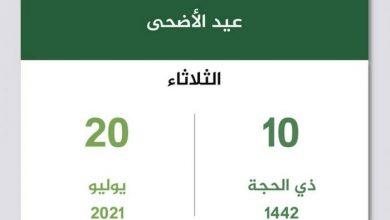 صورة موعد يوم عيد الأضحى ٢٠٢١ – ١٤٤٢ في السعودية