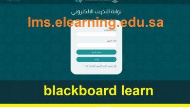 صورة رابط تسجيل دخول بلاك بورد بوابة التدريب الإلكتروني التقنية blackboard موعد بدأ وإغلاق التقديم