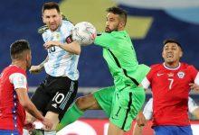 صورة تعادل ثمين بين فريقي الأرجنتين وتشيلي