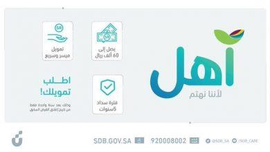 صورة تمويل أهل من بنك التنمية الاجتماعية بدون كفيل يصل إلى 60 ألف ريال