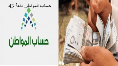 صورة حساب المواطن لشهر يونيو وإيداع الدفعة رقم 43 بحسابات كافة المستفيدين
