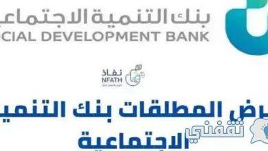 صورة شروط الحصول على قرض المطلقات من بنك التنمية الاجتماعية 1442