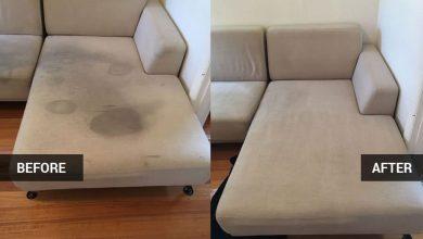 صورة مكون سحري لتنظيف فرش الكنب بأمان للحفاظ على الأنسجة ويعيد الأثاث جديد