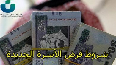 صورة شروط الحصول على قرض الاسرة بنك التسليف للمطلقة وربة المنزل 1442 من الموقع الرسمي sdb.gov.sa