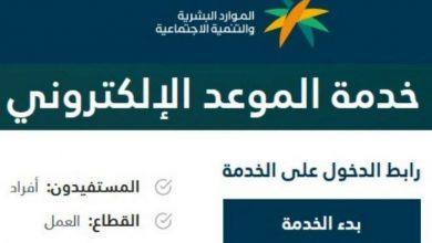 صورة خطوات تنفيذ خدمة الموعد الإلكتروني من وزارة الموارد البشرية