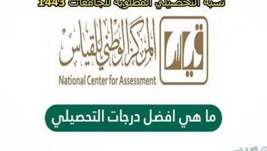 صورة ما هي أفضل درجات التحصيلي؟ | النسبة المطلوبة في الجامعات السعودية