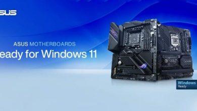 أسوس تستعد لإطلاق ويندوز 11