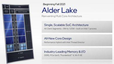 إنتل تريد دخول الحوسبة الهجينة عبر Alder Lake