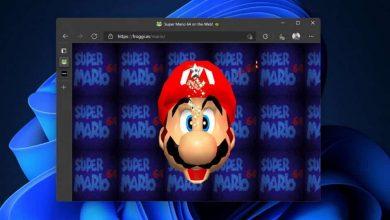 تشغيل لعبة Super Mario 64 عبر المتصفح