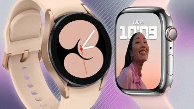 مقارنة بين مميزات Galaxy Watch 4 و ساعة آبل 7