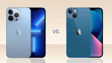 مقارنة بين هاتفي آيفون 13 و آيفون 13 برو